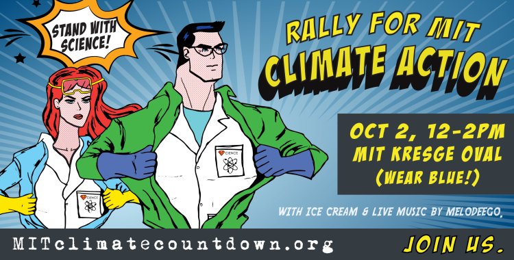 2015.10.02 - Rally for Climate Action: We can make MIT climate change history this Friday